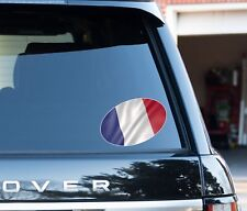 France Flag oval Decal Sticker Car, Van, Laptop suit case Rugby ball 6 nations