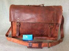 "Leather Laptop Bag 17.5"" Satchel SXXL Padded Laptop Billy Goat Designs"