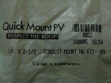 Quick Mount PV - Solar Panel Mounting Stainless Lag Bolt & Washer Hardware Kit