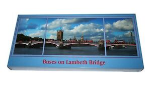 Buses On Lambeth Bridge 1 x 1000 2 x 500 Piece Jigsaw Puzzle 3 IN 1 PUZZLES