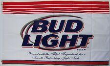 Budweiser Bud Light Beer Flag 3' X 5' Deluxe Indoor Outdoor Banner