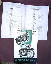 MOTOBÉCANE  125 cc Z 46 C et 175 cc Z 2 C  Manuel d'entretien  reprint