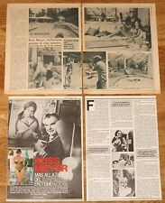 RUSS MEYER spanish clippings 1970s/80s Edy Williams magazine articles photos