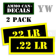 22 LR Ammo Ammo Can Box Decal Sticker bullet ARMY Gun safety Hunting 2 pack YW