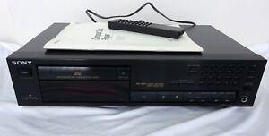 CD-Player, Sony CDP-591,schwarz + Bedienungsanl. +Original-Fernbedienung.