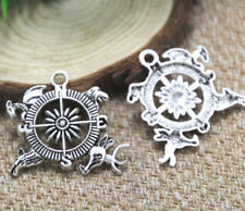 7pcs Game of Thrones House Sigil Crest Compass Charms silvertone pendant 33x35mm
