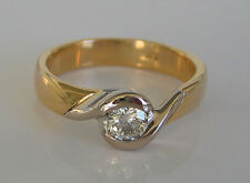 Must have✨ Ring mit 0,30 ct Brillant Solitär Diamant in aus 14kt 585 Gold 4,6 gr