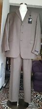 Great Axcess A Clairborne Company Men Brown Suit Size 48L