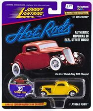 Johnny Lightning Hot Rods #39 Flathead Flyer by Posies Inc. Yellow 1997 MOC