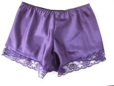 Ladies Size 10-12 French Knickers Panties Lacy Shiny Purple