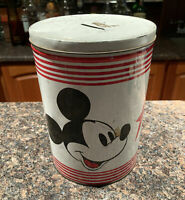 Vintage Mickey Mouse Tin Coin Bank By Cliff Engle Walt Disney Productions