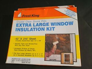 """Frost King Indoor Extra Large Window Insulation Kit (FOR ONE) 62"""" x 210"""" V75"""