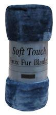 LARGE Teal Mink FUR Blanket Sofa / Bed Throw 150x200 cm