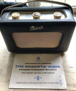 Vintage Roberts Transistor Radio Model R 300