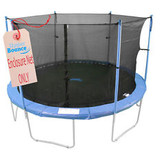 Trampoline Enclosure Safety Net Fits 15' Round Frames Using 6 Poles or 3 Arches