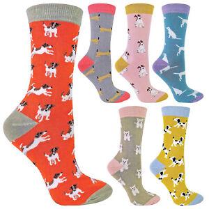 MISS SPARROW - Womens Novelty Dog Bamboo Socks - Inc Sausage Dog & Labrador