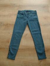 Mother Jeans The Pop Looker Crop seitlicher Reissverschluß Blau W28 Gr.28