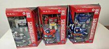 Optimus Prime, Megatron, & Soundwave RED R.E.D. Transformers 6