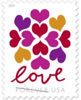 200 USPS (10 Panes OF 20) Hearts Blossom Forever Postage Love Stamps #5339