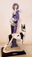 "VTG ARMANI Sculpture ""Lady with Great Dane""  #429c Rare Limited Edition COA Box"