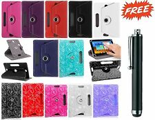 """360 Universal Folio Leather Case Cover For Samsung Galaxy Tab 2/3/4 Hudl 7"""" inch"""