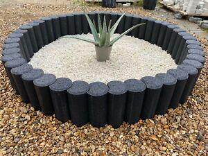 Round water fountain base concrete circle garden features grass border palisades