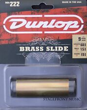 JIM DUNLOP J222 BRASS GUITAR SLIDE. MEDIUM SIZE - NEW