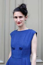 Kleid dress blau blue elegant rockabilly chic smart mode 50er True VINTAGE 50´s