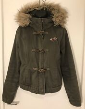 Womens Hollister Jacket With Removable Faux Fur Trimmed Hood Size L