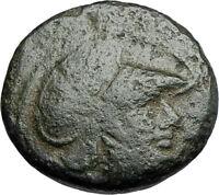 LYSIMACHOS Thrace King 305BC Lampsakos Ancient Greek Coin ATHENA TROPHY i67788