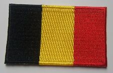Belgium Flag Patch Embroidered Iron On Applique Belgian