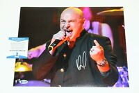 DISTURBED SINGER DAVID DRAIMAN SIGNED 11x14 PHOTO 1 BECKETT COA THE SICKNESS BAS