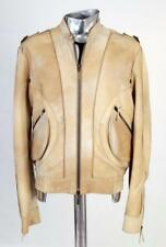 Mainline Roberto Cavalli  Suede Leather Jacket EU46 Small Medium RRP £2000 Beige
