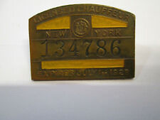 1928 NYC New York City Chauffeur License Taxi Hack Badge Pin