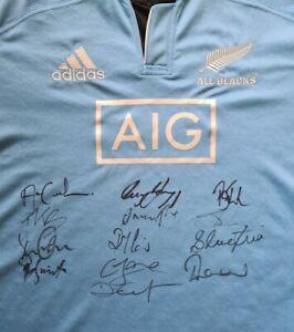 SIGNED 13× New Zealand All Blacks RWC Squad rugby shirt Richie McCaw Dan Carter