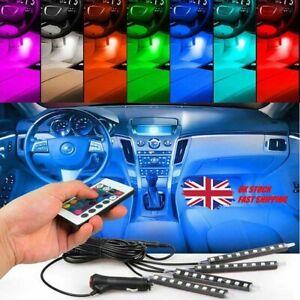 Car Interior Footwell LED Strip Lights RGB Multicolour Remote Atmosphere Lamp UK