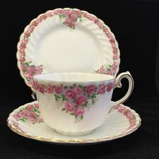GLADSTONE TRELLIS ROSE  BONE CHINA cup saucer and plate VINTAGE