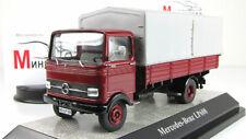 Scale model truck 1:43 Mercedes-Benz LP608 pick-up truck, dark red