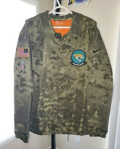 Jacksonville Jaguars Nike Camouflage Salute To Service Lightweight Jacket S