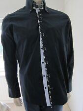 Spitalfields Sandbanks Size L Designer Stretch Shirt Navy Check details RRP £40