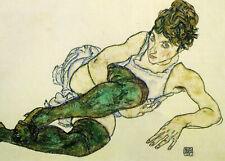 Egon Schiele Green Stockings 11x8 inch Print