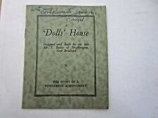 The Dolls' House . Built by T. Batty 1948 rare illustrated pamphlet 16pps
