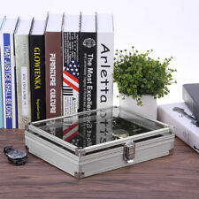 Coffret Boîte à Montre Bijoux présentoir Ecrin en Aluminium pour 6/10/12 Montres