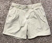 Eddie Bauer Shorts Mens Size 35 Classic Fit 100% Cotton Casual Hiking Beige