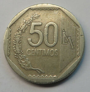 Peru 50 Centimos 2006LIMA Copper-Nickel-Zinc KM#307.4