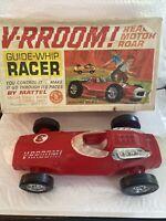 Vintage Mattel Vrroom Guide Whip Racer RED 1963