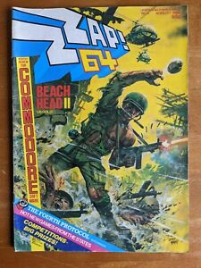 Zzap 64 magazine # 4 issue 4 August 1985 complete rare good condition