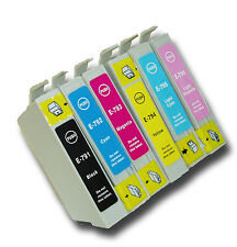 6 T0791-T0796 'Owl' Ink Cartridges Compatible Non-OEM with Epson Stylus PX830FWD