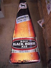 """Dow Black Horse Ale Super Size Decal, NOS, Drewry Limited, 56.5 X 16"""" HUGE, 3M"""