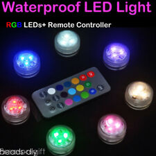 1X RGB LED Submersible Waterproof Wedding Party Vase Base Floral Remote Light